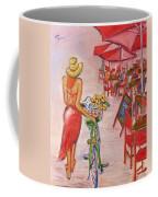 Summer Stroll By A Cafe Coffee Mug