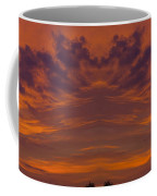 Summer Sunrise Over Jackson Michigan Mirror Image Coffee Mug