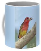Summer Tanager Eating Wasp Coffee Mug