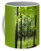 Summer's Green Forest Abstract Coffee Mug