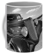 Summertime Blues In Black And White - Ford Coupe Hot Rod Coffee Mug