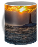 Sun Climbing Over Thacher Island Lighthouse Coffee Mug