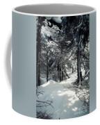 Sun Dappled Snow Coffee Mug