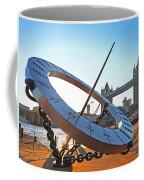 Sun Dial And Tower Bridge London Coffee Mug