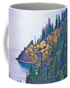 Sun Notch On A Rainy Day At Crater Lake National Park-oregon Coffee Mug