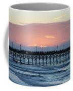 Sun Over Crowed Pier Coffee Mug