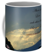 Sun Rays 1 Peter Chapter 4 Verse 8 Coffee Mug
