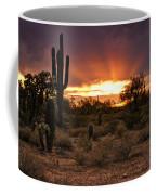 Sun Rays Over The Sonoran Desert  Coffee Mug