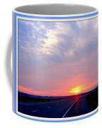 Sun Set Going Home On The Toll Road Coffee Mug