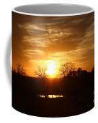 Sun Setting Over The Pond Coffee Mug