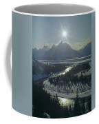 1m9313-sunburst Over Grand Teton, Wy Coffee Mug