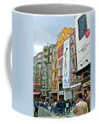 Sunday Afternoon On Pedestrian Walkway In Istanbul-turkey Coffee Mug