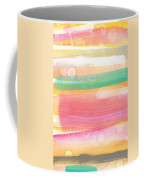 Sunday In The Park- Contemporary Abstract Painting Coffee Mug by Linda Woods