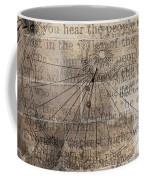 Sundial With Les Miz Coffee Mug