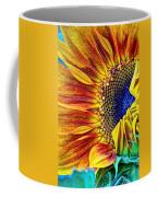 Sunflower Abstract Coffee Mug