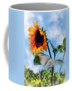 Sunflower Against The Sky Coffee Mug by Susan Savad