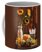 Sunflower And Gourds Still Life Coffee Mug