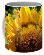Sunflower And Two Bees Coffee Mug