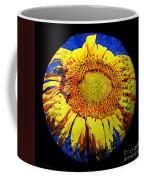 Sunflower Baseball Square Coffee Mug