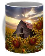 Sunflower Dance Coffee Mug by Debra and Dave Vanderlaan