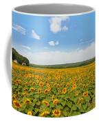 Sunflower Field New Jersey Coffee Mug