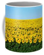 Sunflower Field, North Dakota, Usa Coffee Mug