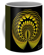 Sunflower Polar Coordinate Effect 1 Coffee Mug