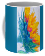 Sunflower Profile Impressionism Coffee Mug