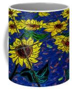 Sunflower Tiled Oil Painting Coffee Mug