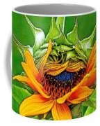 Sunflower Volunteer Half Bloom Coffee Mug