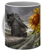 Sunflower Watch Coffee Mug by Debra and Dave Vanderlaan
