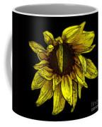 Sunflower With Contours Effect Coffee Mug