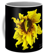 Sunflower With Curlicues Effect Coffee Mug