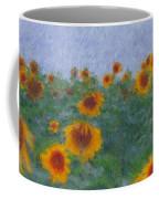 Sunflowerfield Abstract Coffee Mug