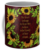 Sunflowers And Future Poem Coffee Mug