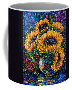 Sunflowers Bouquet In Vase Coffee Mug
