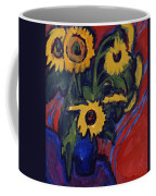 Sunflowers Coffee Mug by Ernst Ludwig Kirchner