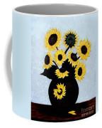 Sunflowers Expressive Brushstrokes Coffee Mug