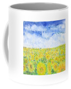 Sunflowers In A Field In  Texas Coffee Mug