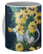 Sunflowers In An Antique Country Pot Coffee Mug by Eloise Schneider