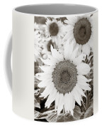 Sunflowers In Back And White Coffee Mug