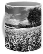 Sunflowers In Black And White Coffee Mug