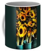 Sunflowers In Blue Bowls Coffee Mug