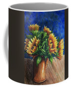 Sunflowers In Copper Coffee Mug