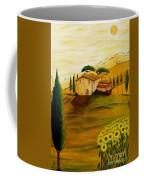 Sunflowers In Tuscany Coffee Mug