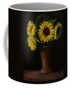 Sunflowers In Vase Coffee Mug
