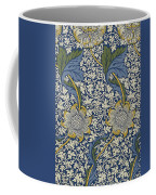 Sunflowers On Blue Pattern Coffee Mug