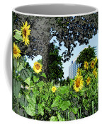 Sunflowers Outside Ford Motor Company Headquarters In Dearborn Michigan Coffee Mug by Design Turnpike
