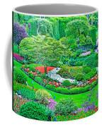 Sunken Garden In Butchart Gardens Near Victoria-british Columbia Coffee Mug