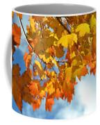Sunlight And Shadow - Autumn Leaves Two Coffee Mug